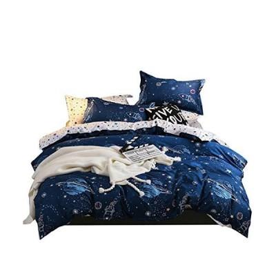 布団カバーセット マクラカバー ベッド用 ボックスシーツ 寝具セット 170*210cm TKMY-202009-GJN-ZCZS-LG