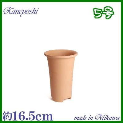 植木鉢 陶器 おしゃれ サイズ 16.5cm 安くて植物に良い鉢 素焼長ラン鉢 5号