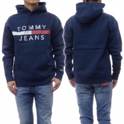 【セール 50%OFF!】TOMMY JEANS トミージーンズ メンズプルオーバーパーカー DM0DM07410 ネイビー
