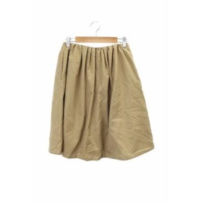 【中古】ボールジー BALLSEY トゥモローランド スカート ギャザー ひざ丈 34 茶色 ブラウン /RT2 レディース