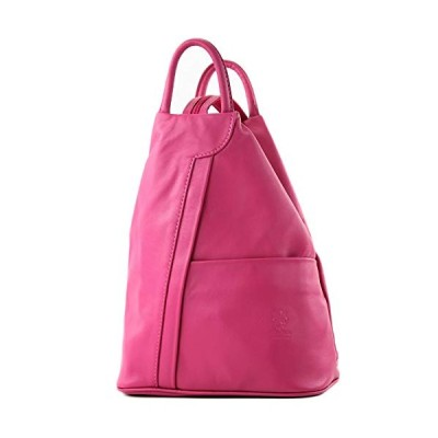 modamoda de - T180 - ital Ladies backpack bag nappa leather, Colour:pink 並行輸入品