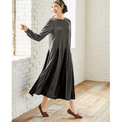 大きいサイズ デザイン切替カットソーワンピース(オトナスマイル) ,スマイルランド, ワンピース, plus size dress
