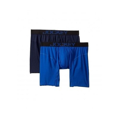 Jockey ジョッキー メンズ 男性用 ファッション 下着 Athletic Rapidcool Midway Brief 2-Pack - Vibrant Blue/True Navy