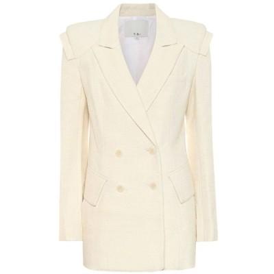 ティビ Tibi レディース スーツ・ジャケット アウター Wool and cotton-blend blazer Ivory