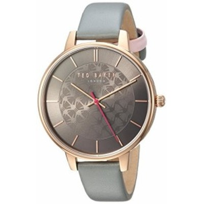 Ted Baker Womens KATE Quartz Stainless Steel and Leather Casual Watch, Color:Grey (Model: TEC0025018)