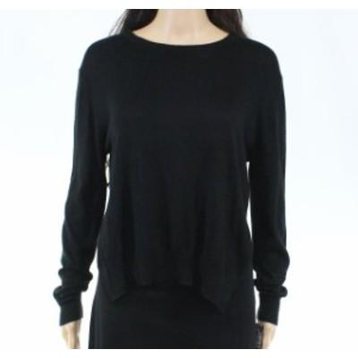 ファッション トップス Designer Brand Womens Black Size Small S Pullover Split-Back Sweater