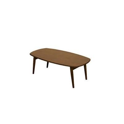 木目調折りたたみローテーブル/センターテーブル 【長方形/ダークブラウン】 幅90cm 『BONNY』 木製脚 【完成品?