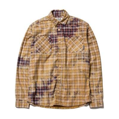 ナインルーラーズ 長袖 NINE RULAZ LINE Washed Check Shirt シャツ チェック レッド