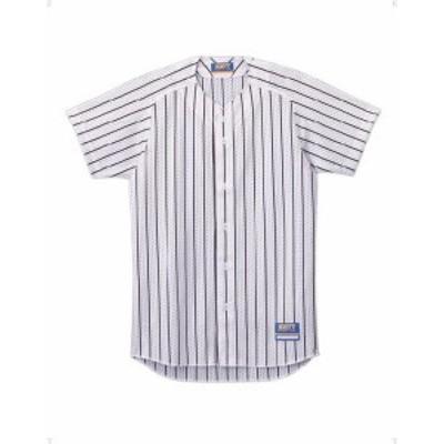 ゼット 野球 ソフト ユニフォーム用ストライプメッシュシャツ 16SS ホワイト/ブラツク ヤキュウユニホーム(bu521-1119)