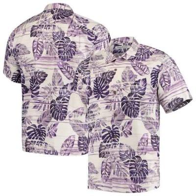 トッミーバハマ シャツ トップス メンズ TCU Horned Frogs Tommy Bahama Super Fan Camp Shirt Purple