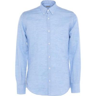 JWサックス J.W. SAX Milano メンズ シャツ トップス Linen Shirt Sky blue