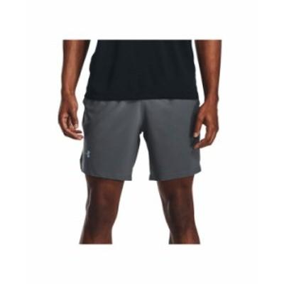 アンダーアーマー メンズ ハーフパンツ・ショーツ ボトムス Men's Launch 7 Shorts Pitch Gray