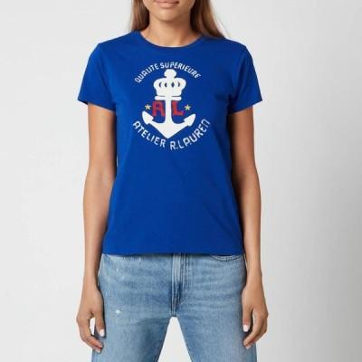 ラルフ ローレン Polo Ralph Lauren レディース Tシャツ トップス Anchor Logo T-Shirt - Heritage Royal Blue