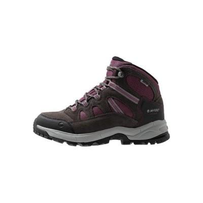 ハイテック シューズ レディース ハイキング BANDERA LITE MID WP WOMENS - Hiking shoes - charcoal/amaranth/light grey