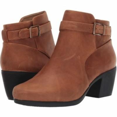 クラークス Clarks レディース ブーツ シューズ・靴 Un Lindel Lo Dark Tan Oily Leather