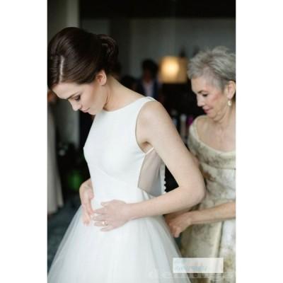 ウエディングドレス 成人禮 シンプル 二次会 花嫁 ウェディングドレス パーティードレス 40代 20代 30代 小きいサイズ 前撮り 白 ブライダル ワンピース