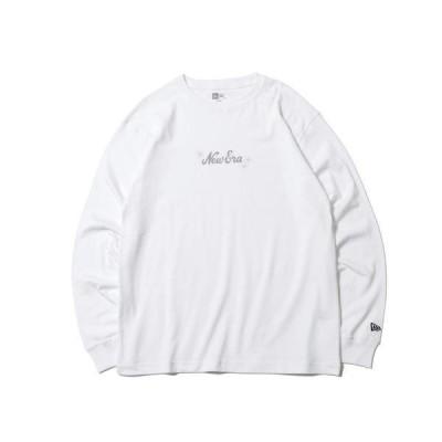 ニューエラ シャツ 長袖 メンズ レディース Tシャツ スパークル コットン 無地 白 ホワイト NEW ERA ロゴ 刺繍 レギュラーフィット スポーツ 12674287