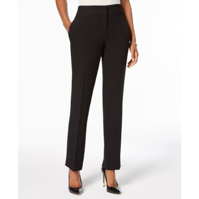 カスパー カジュアルパンツ ボトムス レディース Slim Straight-Leg Modern Trousers Black