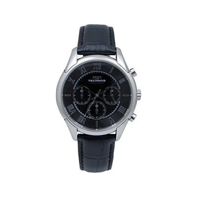[テクノス]TECHNOS 腕時計 牛革バンド クロノグラフ ブラック T9473-SB メンズ[正規輸入品]