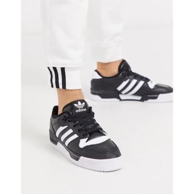 アディダス メンズ スニーカー シューズ adidas Originals rivalry low sneakers in black