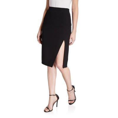 アルチュザラ レディース スカート ボトムス Lancaster Crepe Classic Side-Slit Skirt