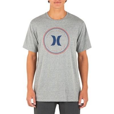 ハーレー シャツ トップス メンズ Hurley Men's Circle America Short Sleeve T-Shirt DarkGreyHeather