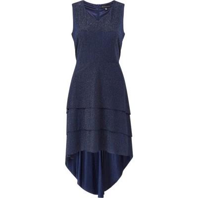 メラ ロンドン Mela London レディース ワンピース ワンピース・ドレス Triple Ruffle High Low Shimmer Dress Navy