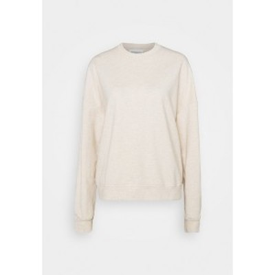 エブンアンドオッド レディース パーカー・スウェットシャツ アウター BASIC OVERSIZE SWEATSHIRT - Sweatshirt - beige beige