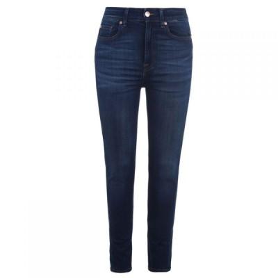 セブン フォー オール マンカインド 7 For All Mankind レディース ジーンズ・デニム スキニー ボトムス・パンツ Skinny Jeans DARK BLUE