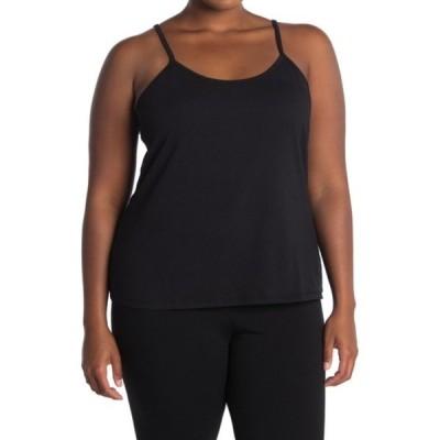 ラブファイヤ レディース Tシャツ トップス Layering Scoop Neck Cami (Plus Size) BLACK