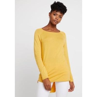 オンリー レディース ニット&セーター アウター ONLMILA LACY LONG - Jumper - yolk yellow yolk yellow