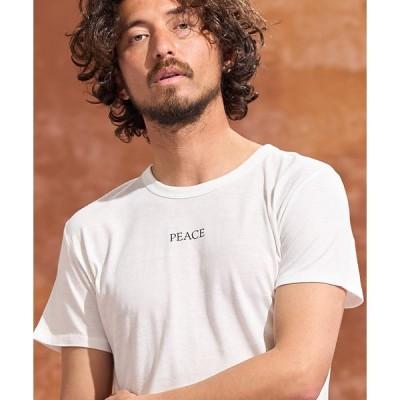 【Jih Nunc(ジーヌンク)】チャリティープリントTシャツ - LOVE & PEACE - (JNSD-005)