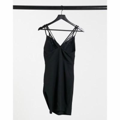 アイソウイットファースト I Saw It First レディース ワンピース ミニ丈 ワンピース・ドレス Lace Detail Mini Dress In Black ブラック