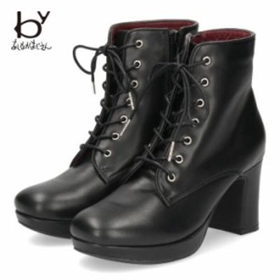 byあしながおじさん 靴 厚底 シューズ レディース 黒 8510045 モンクストラップ 可愛い マニッシュシューズ おじ靴