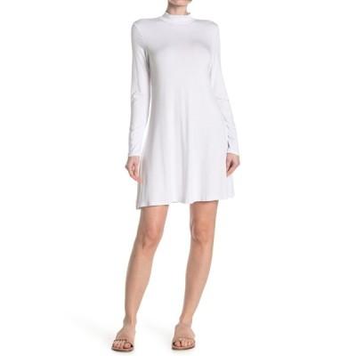アールディスタイル レディース ワンピース トップス Mock Neck 3/4 Sleeve Dress WHITE