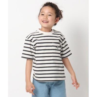 THE SHOP TK(Kids)(ザ ショップ ティーケー(キッズ)) 【リサイクル素材CYCLO】ボーダーTシャツ