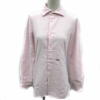 【中古】ディースクエアード DSQUARED2 17SS シャツ ブラウス 長袖 38 ピンク /EK  レディース