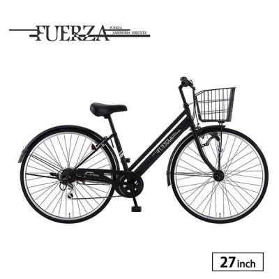自転車 シティサイクル 完全組立 27インチ フェルサ 外装6段変速 サカモトテクノ