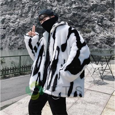 ファージャケット 毛皮 ファーコート フリースジャケット ムートンコート 厚手