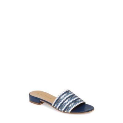 ベラヴィータ レディース サンダル シューズ Eli-Italy Woven Slide Sandal BLUE MULTI