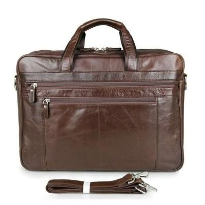 バッグ メンズ 17インチ Men's Genuine Leather Bag Briefcases Shoulder Bag Handbag Laptop Travel AJ73