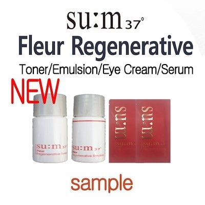 NEW SUM37 - Fleur Regenerative Toner/Emulsion/Eye Cream/Serum Sample