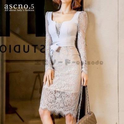 *在庫限り*ワンピース ワンピ ドレス  フリル レース ミディアム丈 フェミニン ドレッシー 韓国 韓国ファッション 30代 40代 デート