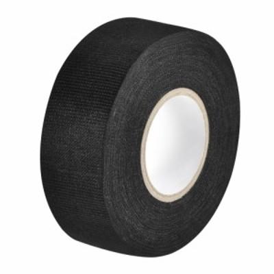 uxcell ワイヤーハーネステープ 布生地テープワイヤーハーネス 高粘度の自動車用 耐摩耗性 接着剤布生地テープ 30mmx15m ブラック