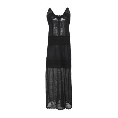 ジャストカヴァリ JUST CAVALLI ロングワンピース&ドレス ブラック 36 コットン 100% ロングワンピース&ドレス