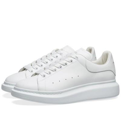 アレキサンダー マックイーン Alexander McQueen メンズ スニーカー ウェッジソール シューズ・靴 heel tab wedge sole sneaker White