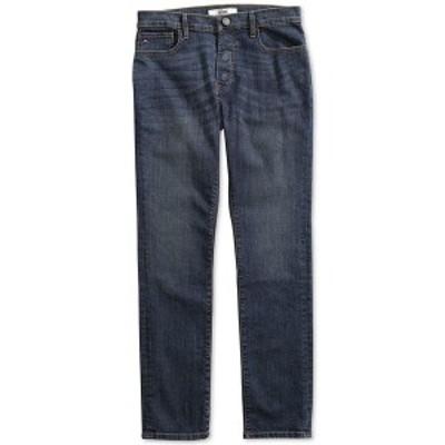 トミー ヒルフィガー メンズ デニムパンツ ボトムス Men's Straight Fit Drake Jeans with Magnetic Zipper Dark Wash