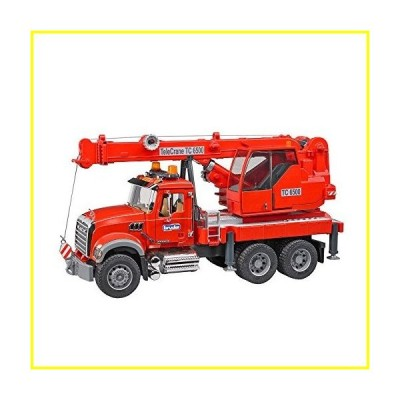 新品   Bruder Mack Granite Crane Truck with Light & Sound Vehicle   並行輸入品