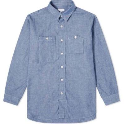 エンジニアードガーメンツ Engineered Garments メンズ シャツ シャンブレーシャツ トップス chambray work shirt Blue