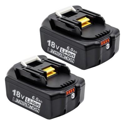 マキタ18vバッテリー マキタ6.0ahバッテリー マキタバッテリー マキタ互換バッテリー18v 大容量残量表示付き 自己診断 電動工具用バッテリー 二個セット